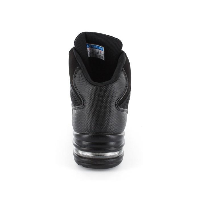 e91d9c245a7585 Black Leather   Black Mesh Sneaker DS110503