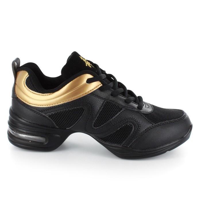 19da1642ee6913 Black Leather Gold PU   Black Mesh Sneaker DS871803
