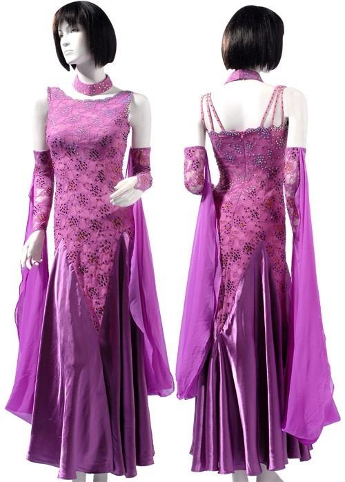 699a1aa50b8c Ballgown B138 Ballgown B138. Purple Lace & Chiffon Dress SZ-HYJ-B138 ...