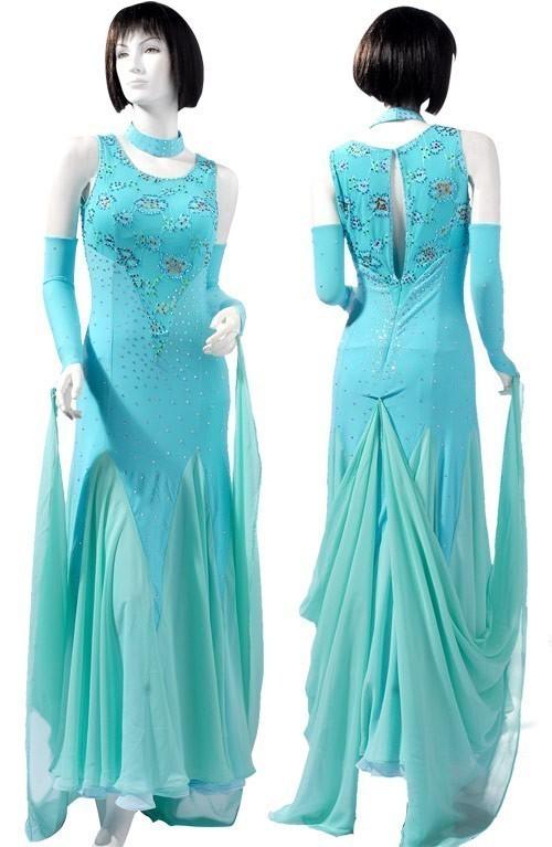 ddd67efef22e Blue Lycra & Chiffon Dress SZ-HYJ-B141