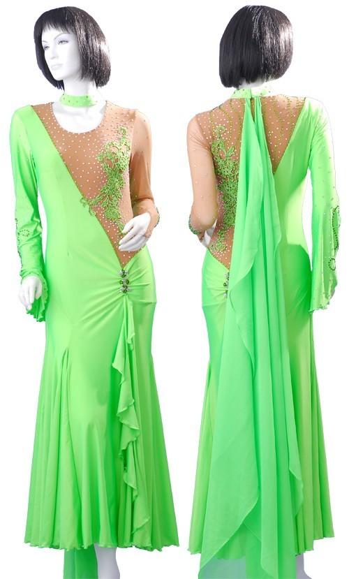 06622fed03e7 Ballgown B152 Ballgown B152. Light Green Mesh & Chiffon Dress SZ-HYJ-B152  ...