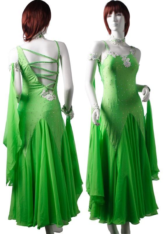 green lycra amp chiffon dress szlhcc3067dr4006