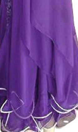 Purple Lace& Chiffon Dress  SZ-LHCC3067-DR6002