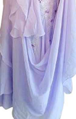 Light Purple Lycra & Chiffon Dress  SZ-LHCC3067-DR7003