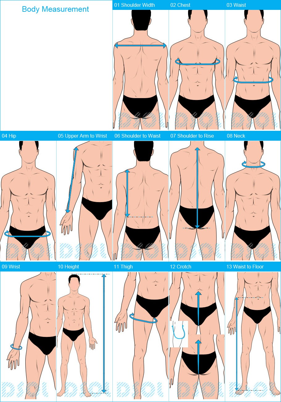 picture For Men: How To Use Measurements To Find Your Clothing Sizes