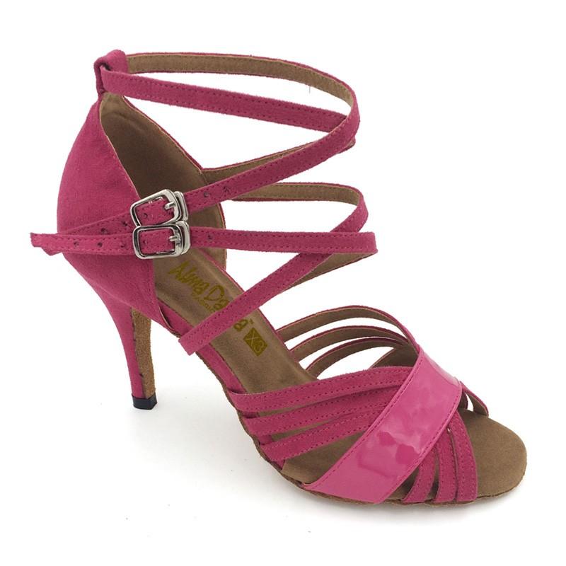 d1df8d431f7 Pink Velvet & Patent Sandal adls283706
