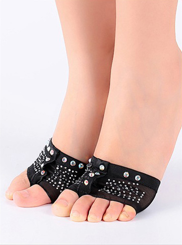 Black Forefoot Pad with Rhinestones BL705701