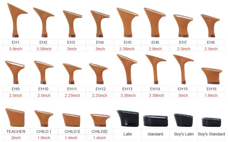 heel height, you will get the heel design of # 3149 for your shoes
