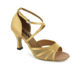 Flesh Satin with Mesh Sandal  LS160108