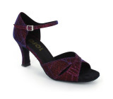 Purple Sparkle Satin Sandal  LS161508