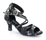 Black & White satin Sandal  fls1616-4
