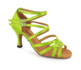 Green satin Sandal  fls1621-1