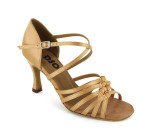 Tan satin Sandal  LS165009