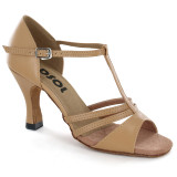 Beige Patent Leather Sandal  LS168303