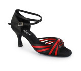 Black & Red Satin Sandal  fls1686-1