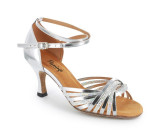 Silver patent leather & sparkle Sandal  fls1686-12