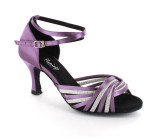 Purple satin & silver sparkle Sandal  fls1686-13