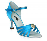 Blue Satin Sandal with  LS171105-1