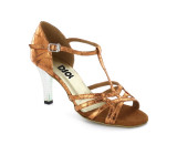 Brown Patent Leather Sandal  LS173501