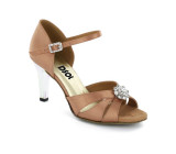 Flesh Satin Sandal with  LS174403