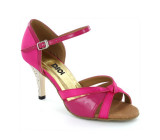 Hot pink satin & patent with Suede sole Sandal  LS174801