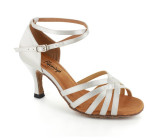 White satin Sandal  fls2613-2