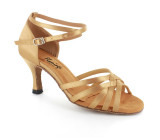 Gold satin Sandal  fls2613-3