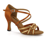 Brown & gold Sandal  adls278101