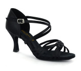 Black Ladies Sandal  adls278302