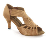Tan satin Ladies Sandal  adls279501