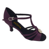 Purple Satin Sandal adls282001