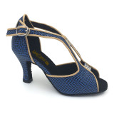 Black & Blue Patent Leather Sandal adls282502