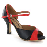 Black & Red Patent Leather Sandal adls282801