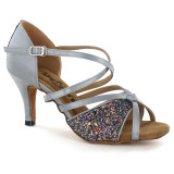 Grey Satin & Sparkle Sandal adls283302