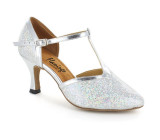 Silver Sparkle & Trim Pump  flp33008-1