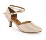 Beige satin Pump  flp350-9