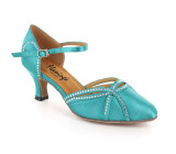 Blue Satin Pump  flp354T-2