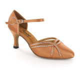 Flesh satin Pump  flp354t-4