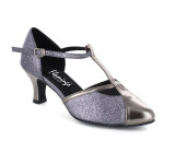 Grey Sparkle & Patent Pump  flp36262-2