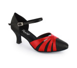 Black & red satin Pump  flp396-1