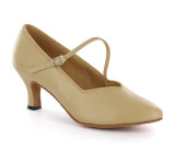 Light Tan Patent Pump  flp6807-5