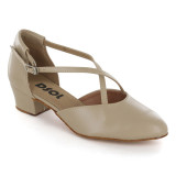 Beige leather Pump  LP685101