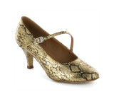 Gold & black PU Pump  LP685201