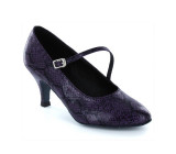 Purple & black PU Pump  LP685202