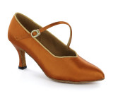 Brown satin Pump  adlp780721