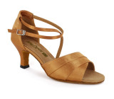 Tan Satin Sandal  A165920