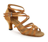 Tan Satin Sandal  A262104