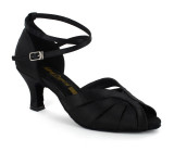 Black Satin Sandal  A271308