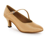 Tan Satin Pump  A780702