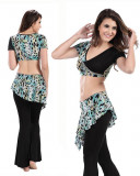 Black  & Leopard Chiffon 2-Piece Set Belly Dress  BED-PS2006-03